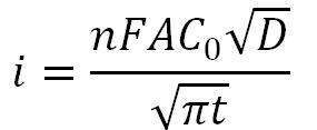 Electrochemistry Equations: cottrell equation