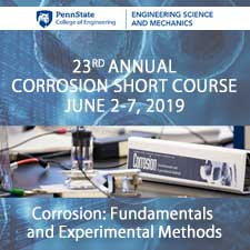 The Penn State University Corrosion Short Course 2019